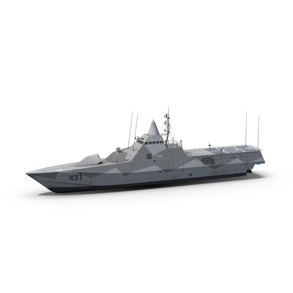 Military Vessel: Visby K31 PNG & PSD Images