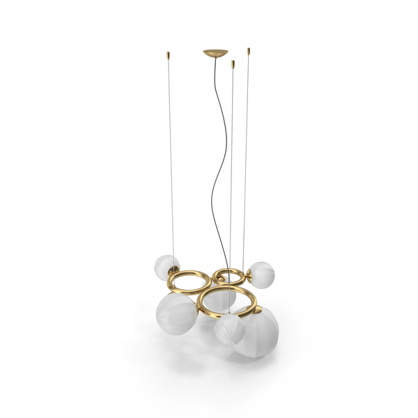 Chandelier: Vistosi Puppet Ring White Shade lamp PNG & PSD Images
