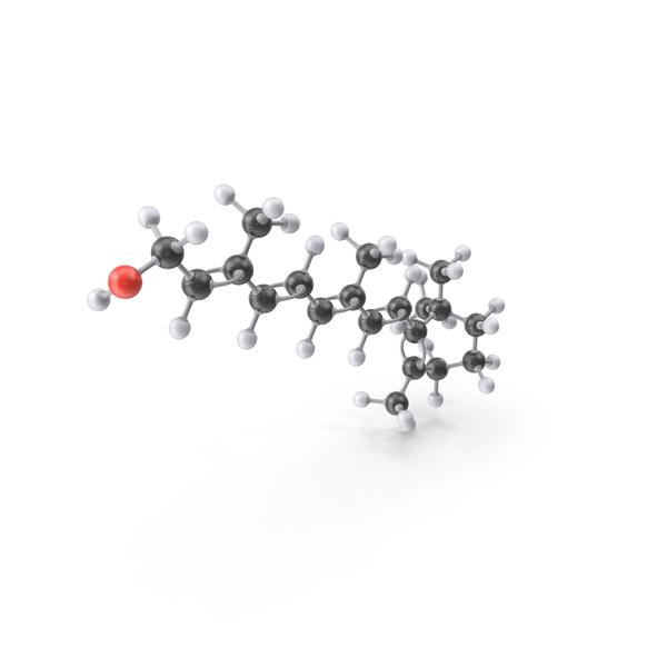 Vitamin A (Retinol) Molecule PNG & PSD Images