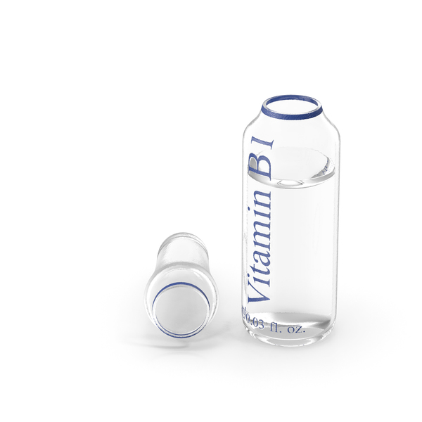 Vial: Vitamin B1 1ml Ampoule Opened PNG & PSD Images