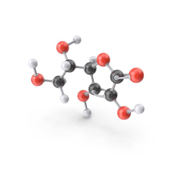 Vitamin C (L Ascorbic Acid) Molecule PNG & PSD Images