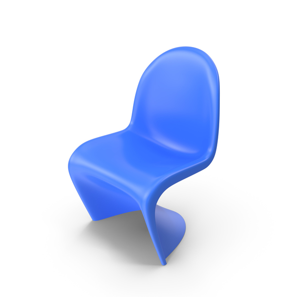 Chair: Vitra Panton Blue PNG & PSD Images