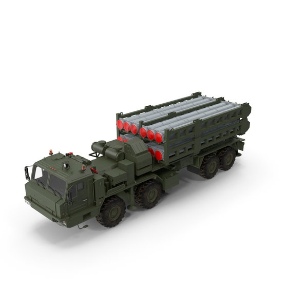 Multiple Rocket: Vityaz S 350E 50R6 Missile Launcher PNG & PSD Images