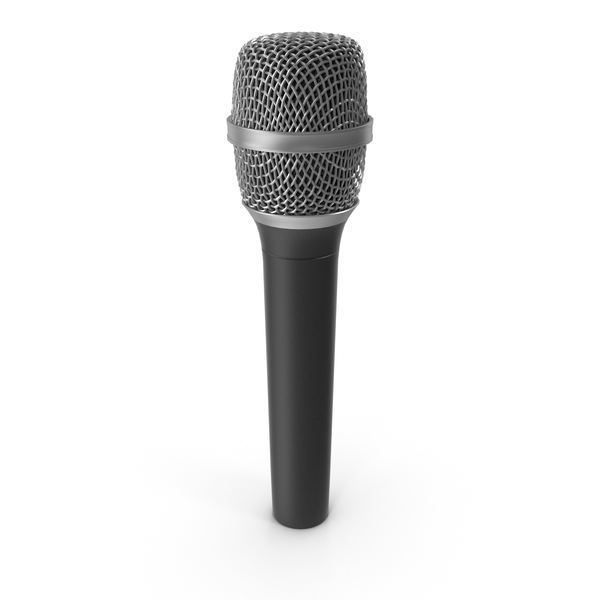 Vocal Microphone Cylindrical Head PNG & PSD Images