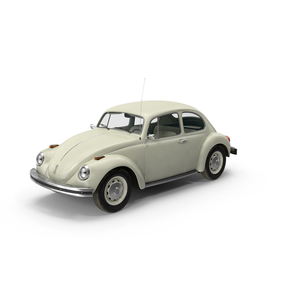 Volkswagen Beetle 1966 White PNG & PSD Images