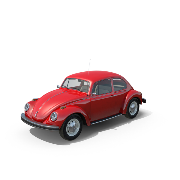 Vehicles: Volkswagen Beetle 1968 Red PNG & PSD Images