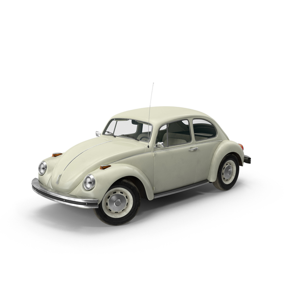 Hatchback: Volkswagen Beetle 1968 White Object
