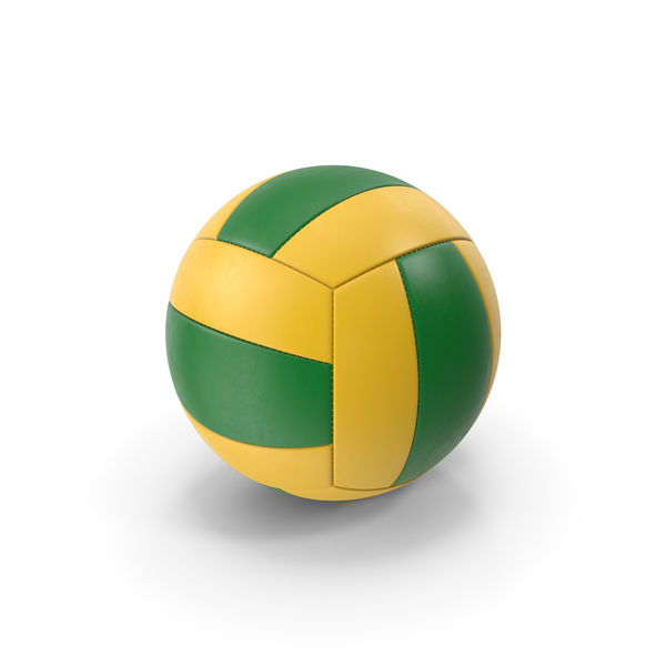 Ball: VolleyBall Green Yellow PNG & PSD Images