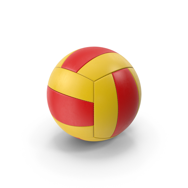 Volleyball Red Yellow PNG & PSD Images