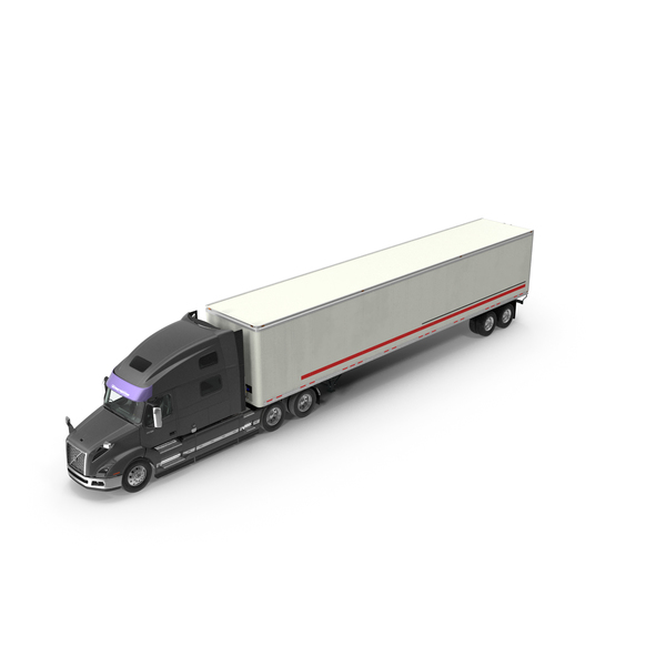Large Goods Vehicle: Volvo VNL 860 Truck 2018 with Trailer PNG & PSD Images