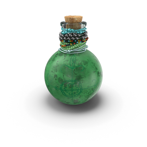 Glass: Voodoo Spirit Bottle PNG & PSD Images