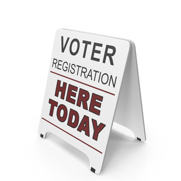 Menu Board: Voter Registration Sign PNG & PSD Images