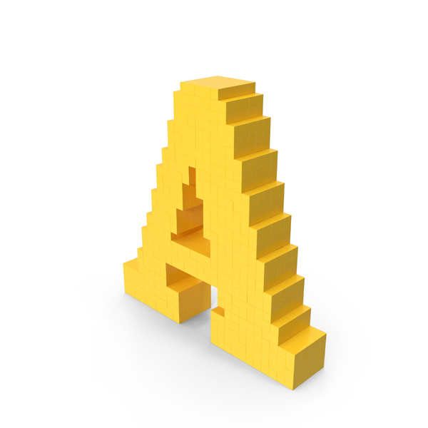 Voxel Letter A PNG & PSD Images
