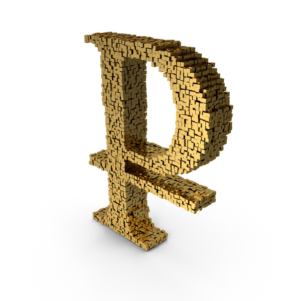 Voxel Ruble Symbol PNG & PSD Images