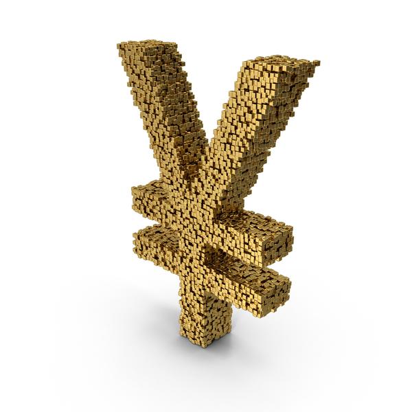 Voxel Yen Symbol PNG & PSD Images