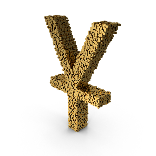 Voxel Yuan Symbol PNG & PSD Images