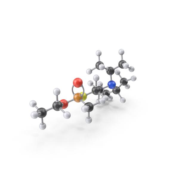 VX Nerve Agent Gas Molecule PNG & PSD Images