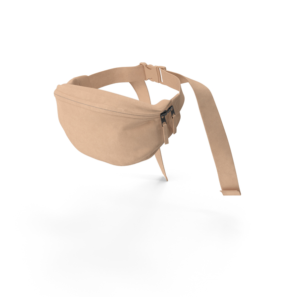 Fanny Pack: Waist Bag Fabric Beige PNG & PSD Images