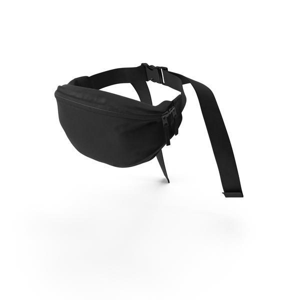 Fanny Pack: Waist Bag Leather Black PNG & PSD Images