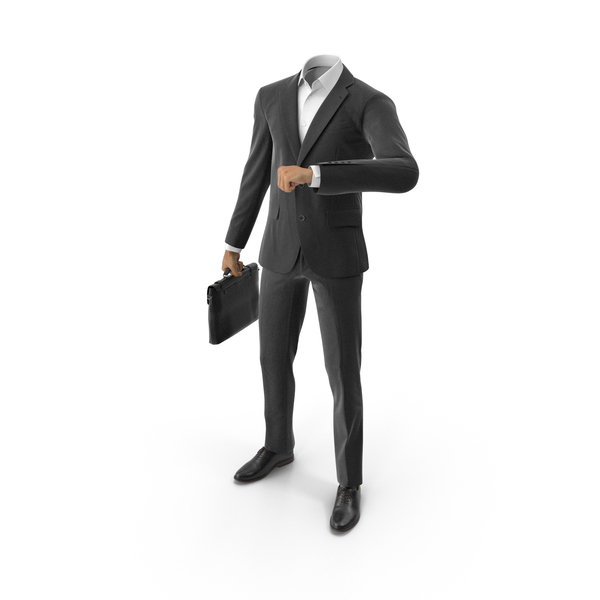 Clothing: Waiting With Bag Suit Black PNG & PSD Images