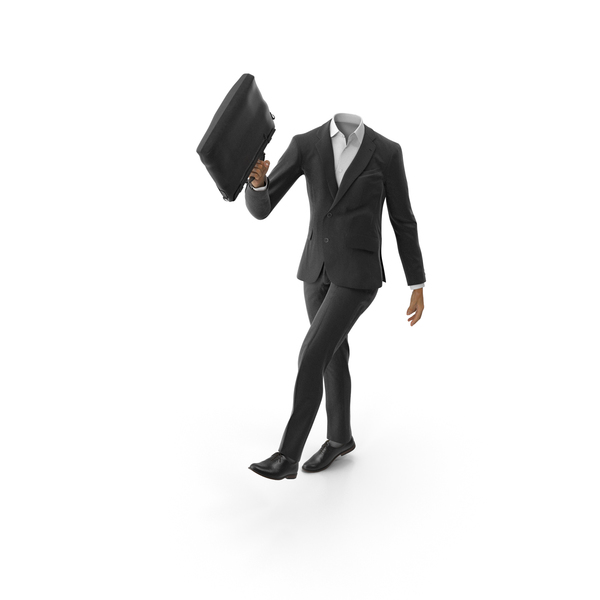 Clothing: Walks Enjoying Bag Suit Black PNG & PSD Images