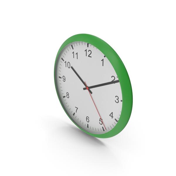 Wall Clock Green PNG & PSD Images