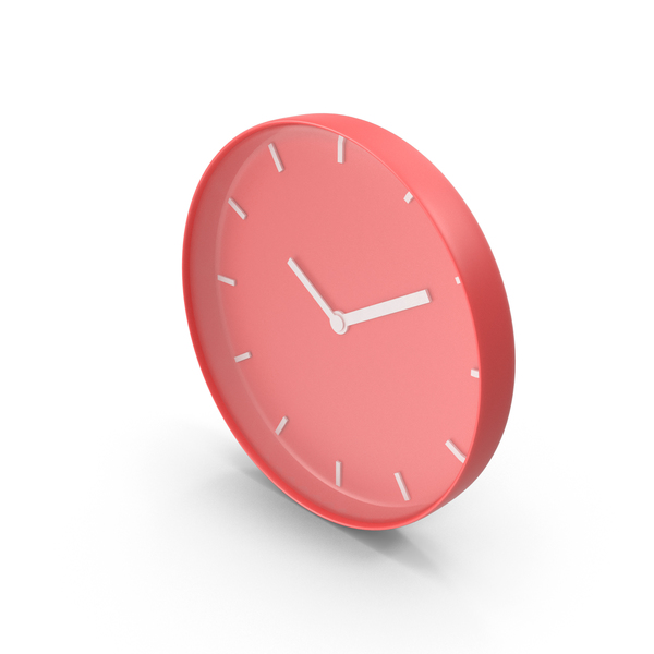 Wall Clock Red PNG & PSD Images