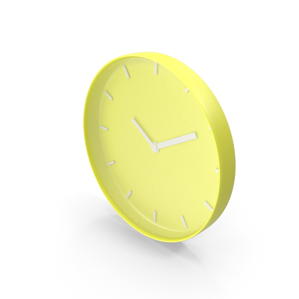 Wall Clock Yellow PNG & PSD Images