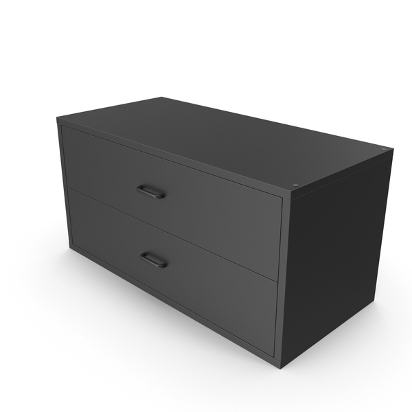Dresser: Wall Mounted Storage Black PNG & PSD Images