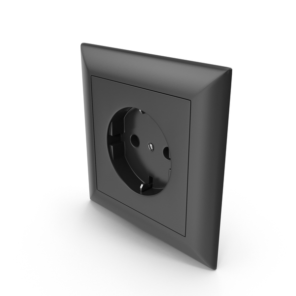 Electrical: Wall Socket Outlet Black PNG & PSD Images
