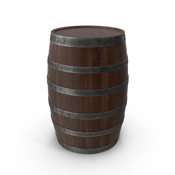 Walnut Wooden Barrel PNG & PSD Images