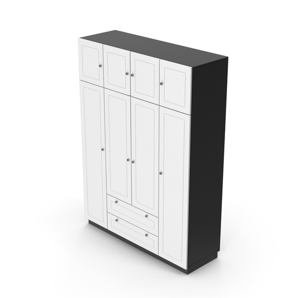Armoire: Wardrobe Black White PNG & PSD Images