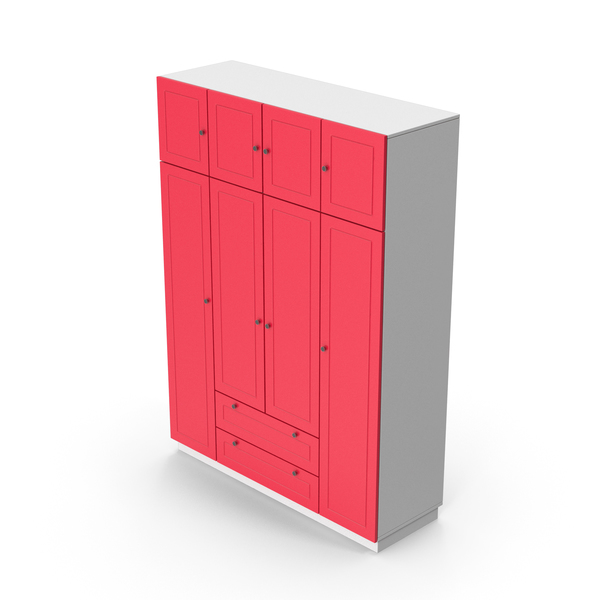 Armoire: Wardrobe White Red PNG & PSD Images