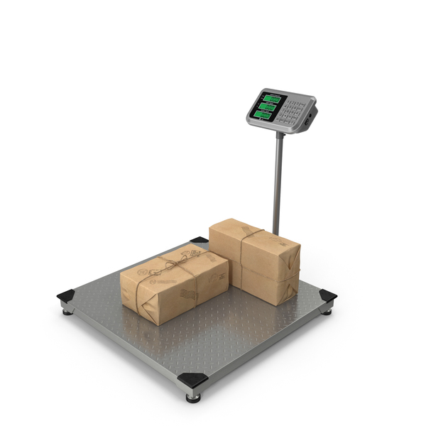 Warehouse Scale with Post Package PNG & PSD Images