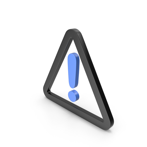 Traffic Signs: Warning Black and Blue Icon PNG & PSD Images