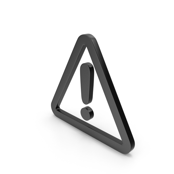 Traffic Signs: Warning Black Icon PNG & PSD Images