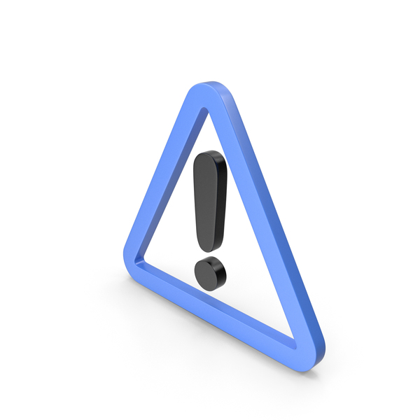 Traffic Signs: Warning Blue and Black Icon PNG & PSD Images