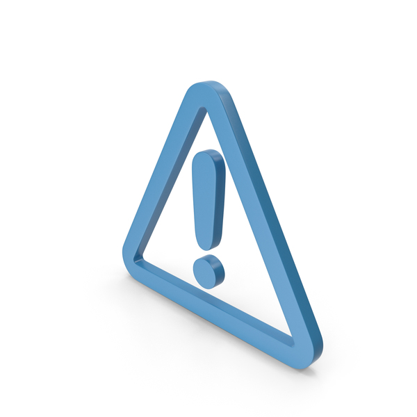 Caution: Warning Blue Icon PNG & PSD Images