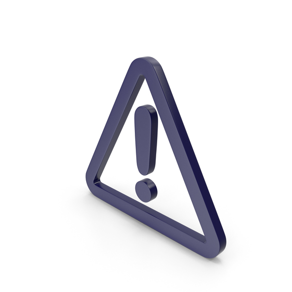 Traffic Signs: Warning Dark Blue Icon PNG & PSD Images