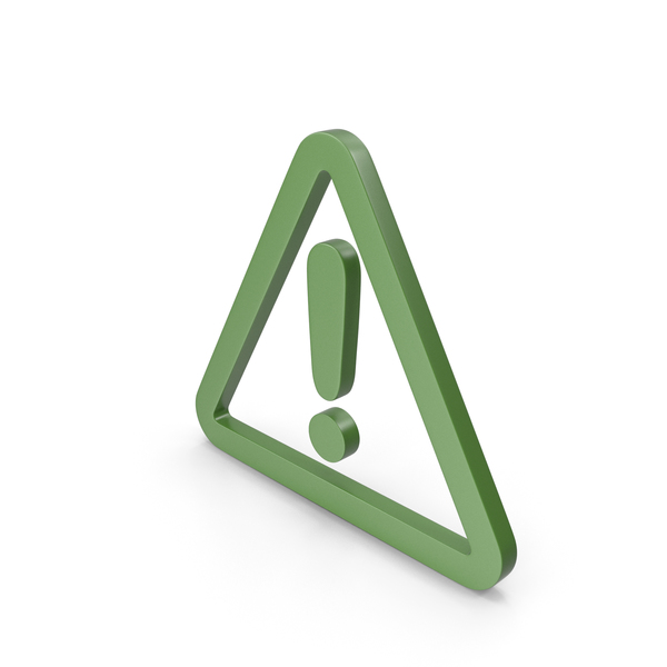 Traffic Signs: Warning Green Icon PNG & PSD Images