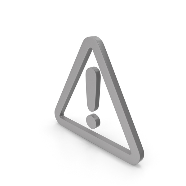 Caution: Warning Grey Icon PNG & PSD Images
