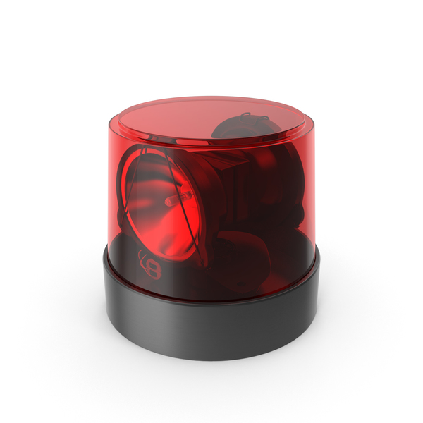 Warning Light Red Object