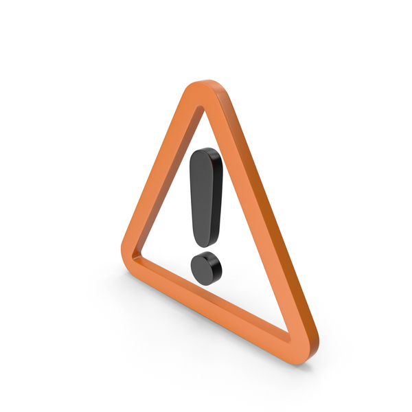 Traffic Signs: Warning Orange and Black Icon PNG & PSD Images