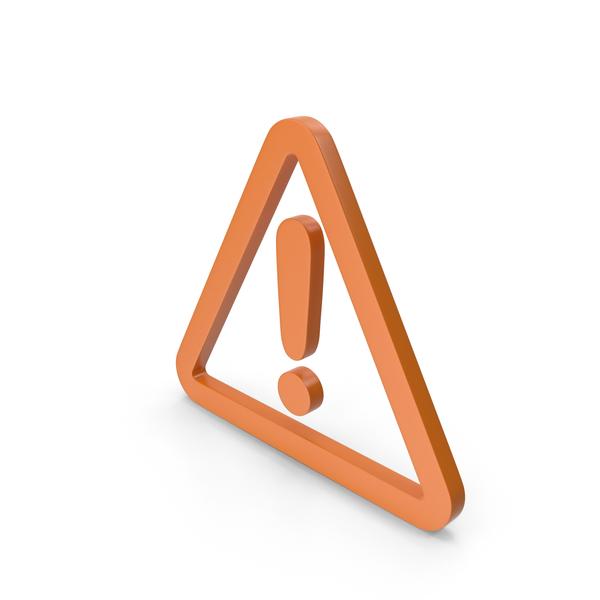 Traffic Signs: Warning Orange Icon PNG & PSD Images