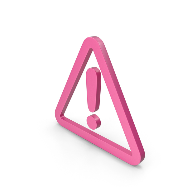 Traffic Signs: Warning Pink Icon PNG & PSD Images