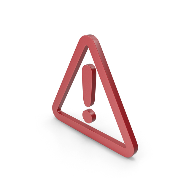 Traffic Signs: Warning Red Icon PNG & PSD Images