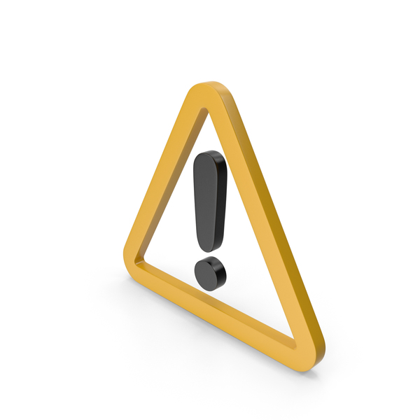 Traffic Signs: Warning Yellow and Black Icon PNG & PSD Images