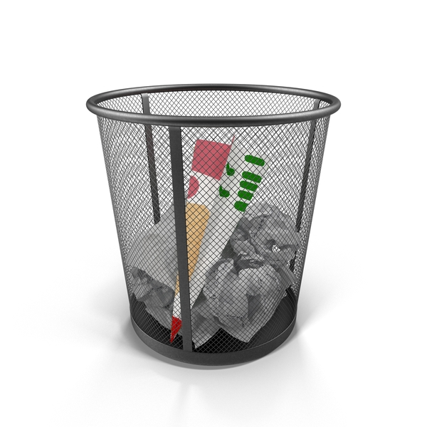 Waste Paper Bin PNG & PSD Images