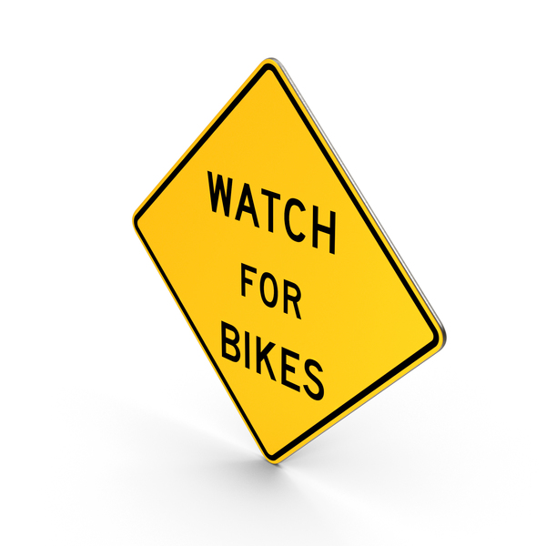 Watch For Bikes Maryland Road Sign PNG & PSD Images