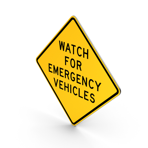 Watch For Emergency Vehicle Texas Road Sign PNG & PSD Images